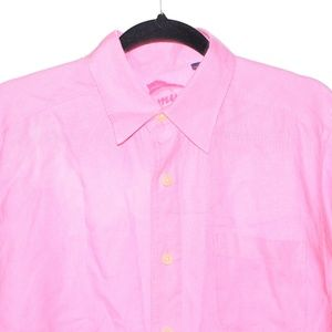 Tommy Bahama Small Pink Linen Long Sleeve Button